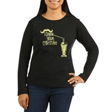 I Drink Your Milkshake Womens Long Sleeve Dark T-