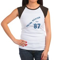 Thank Heaven for '87 Womens Cap Sleeve T-Shirt