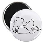 Stylized Mandarin Duck Magnet