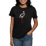 Stylized Stork Women's Dark T-Shirt