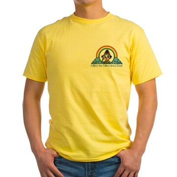 Scarecrow Follow the Yellow Brick Road Yellow T-Sh | Wonderful Wizard of Oz Clothing | Wizard of Oz T-Shirts