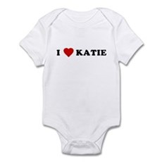 I Love [Heart] Katie Infant Creeper