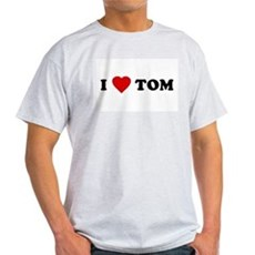 I Love [Heart] Tom Ash Grey T-Shirt