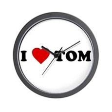 I Love [Heart] Tom Wall Clock