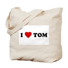 I Love [Heart] Tom Tote Bag
