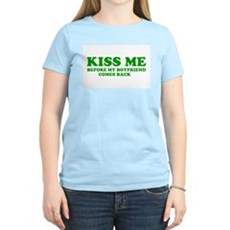Kiss Me Womens Pink T-Shirt