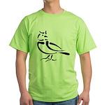 Stylized Lark Green T-Shirt