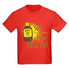The Sun Tries to Burn Me Kids T-Shirt