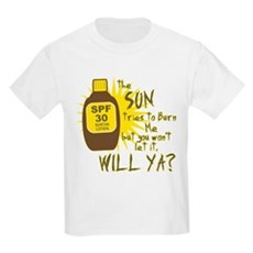 The Sun Tries to Burn Me Kids Light T-Shirt