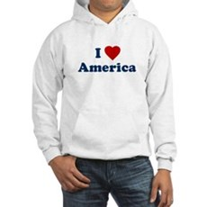 I Love [Heart] America Hooded Sweatshirt