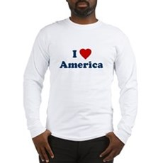 I Love [Heart] America Long Sleeve T-Shirt