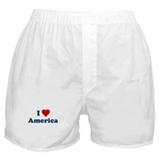 I Love [Heart] America Boxer Shorts