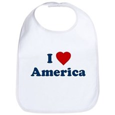 I Love [Heart] America Bib