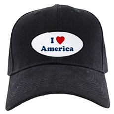 I Love [Heart] America Black Cap