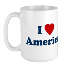 I Love [Heart] America Large Mug