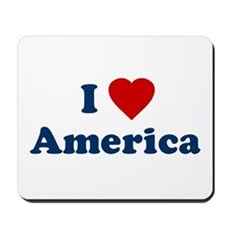 I Love [Heart] America Mousepad