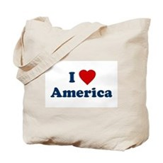 I Love [Heart] America Tote Bag