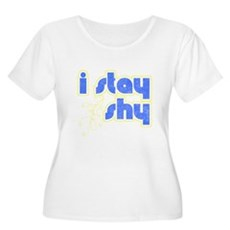 I Stay Shy Plus Size Scoop Neck Shirt