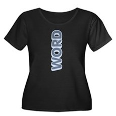 Word Up Plus Size Scoop Neck Shirt