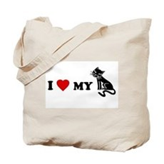 I Love [Heart] My Pussy.. cat Tote Bag
