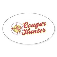 Cougar Hunter Oval Sticker