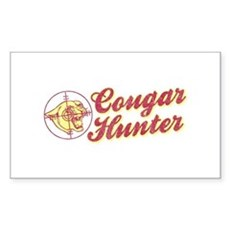 Cougar Hunter Rectangle Sticker