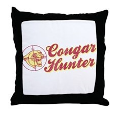 Cougar Hunter Throw Pillow