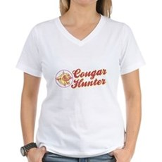 Cougar Hunter Womens V-Neck T-Shirt