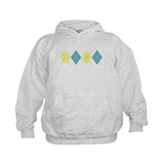 Argyle Business Casual Kids Hoodie