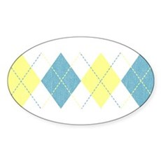 Argyle Business Casual Oval Sticker