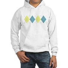 Argyle Business Casual Hooded Sweatshirt
