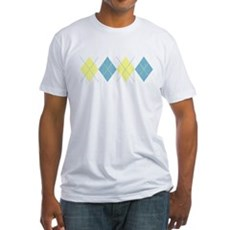 Argyle Business Casual Fitted T-Shirt