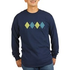 Argyle Business Casual Long Sleeve T-Shirt