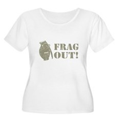 Frag Out! Plus Size Scoop Neck Shirt