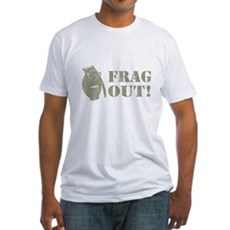 Frag Out! Fitted T-Shirt