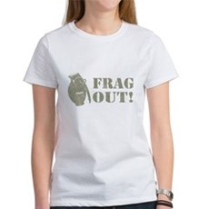 Frag Out! Womens T-Shirt
