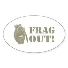Frag Out! Oval Sticker