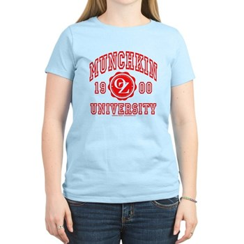 Munchkin University Women's Light T-Shirt | Wonderful Wizard of Oz Clothing | Wizard of Oz T-Shirts