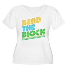 Bend the Block Womens Plus Size Scoop Neck T-Shir