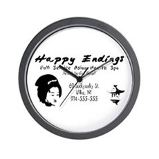 Happy Endings Wall Clock