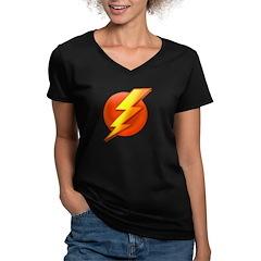 Superhero Women's V-Neck Dark T-Shirt
