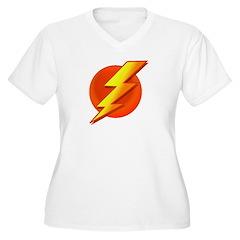 Superhero Women's Plus Size V-Neck T-Shirt