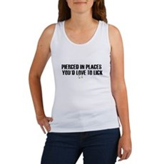 Pierced in places - Womens Tank Top