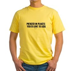 Pierced in places - Yellow T-Shirt