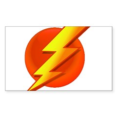 Superhero Rectangle Sticker 10 pk)