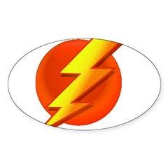 Superhero Oval Sticker (10 pk)