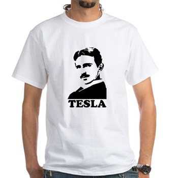 Tesla White T-Shirt | Gifts For A Geek | Geek T-Shirts