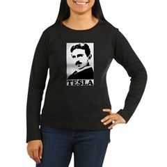 Tesla Women's Long Sleeve Dark T-Shirt