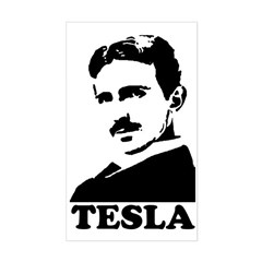 Tesla Rectangle Sticker