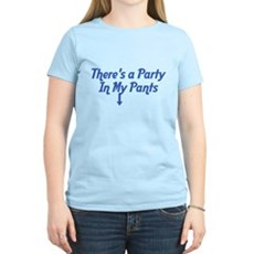 There's a Party In My Pants Womens Light T-Shirt